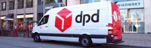 DPD delivery van delivering yet one more order