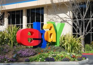 eBay headquarters with their logo outside