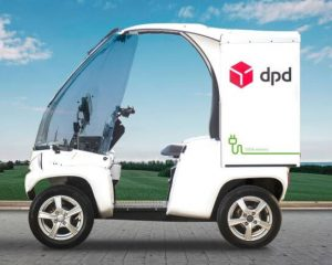 electric delivery vehicles in DPD fleet