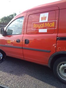 Royal Mail courier van