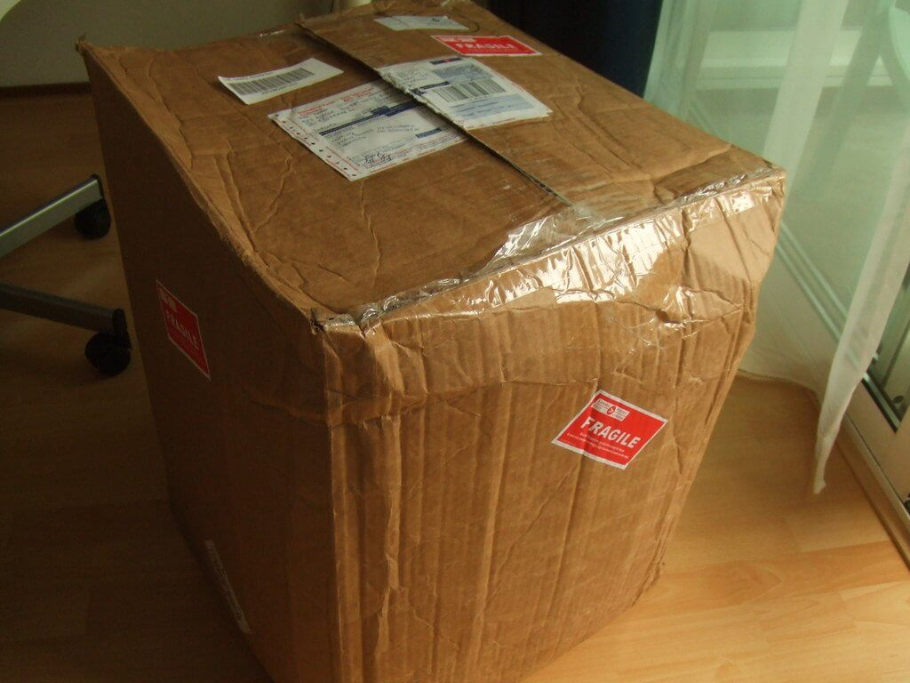 incorrect packaging of parcels