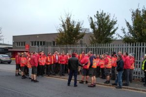 CWU members on strike